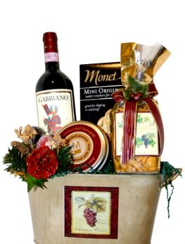 Vino! Red or White Wine Gift Basket