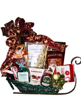 Sleigh Full Of Snacks Basket